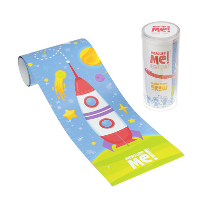 Measure Me! Super Space - Children's Roll-Up Growth Height Chart Boys Rocket
