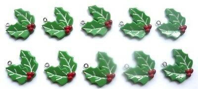 10 Gorgeous Mistletoe Charms Resin - Includes Fast Free Shipping
