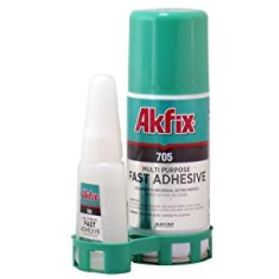 705 Cyanoacrylate Adhesives Fast CA Glue (0.7 Oz.) With Activator (3.38 Fl Clear