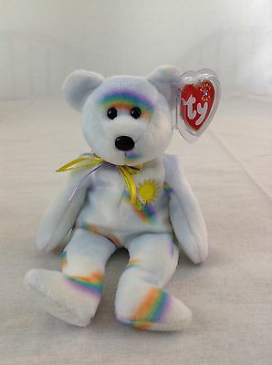 2001 Ty Beanie Baby Cheery Sunshine Rainbow Bear Plush Animal Toy With Tags