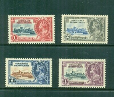 Somaliland Protectorate 1935 KGV Silver Jubilee Mint H SG 86-89