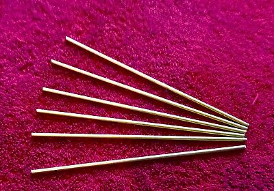 """1/8"""" BRASS Pin Stock 6 PIECES  Round Rod Knife Making C360"""