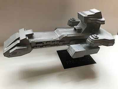 Stargate SG-1 Prometheus Tauri spaceship with Customized stand