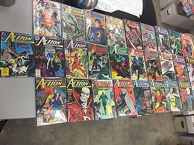 Lot Of 28 Action comics Weekly Black Canary Superman Nightwing & More