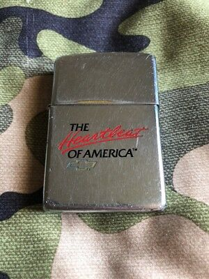 1997 Zippo Lighter Chevrolet The Heartbeat Of America Chevy FREE SHIPPING!