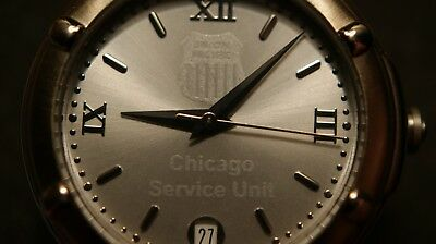 Union Pacific Chicago Service Unit safety award men's watch.