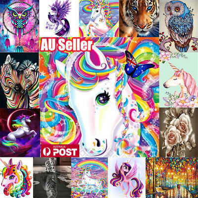 AU Full Drill DIY 5D Diamond Painting Embroidery Cross Craft Stitch Kit Decor d