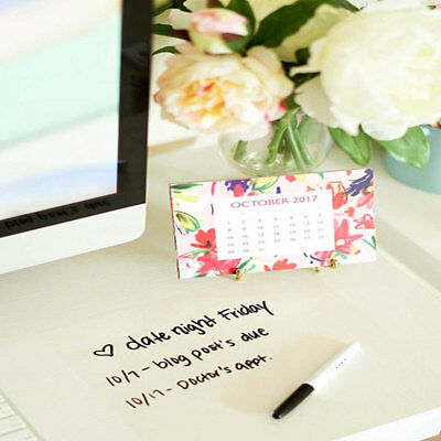 Clear White Board Sticker Dry Erase Message Board Film Decal for Home and Office
