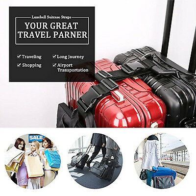 Luggage Hang Buckle Travel Suitcase Hanging Belt Anti-lost Clip Adjustable Strap