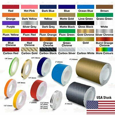 Roll Vinyl Pinstriping Pin Stripe DIY Self-Adhesive Line Car Tape Decal Stickers