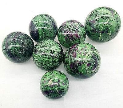 Ruby Zoisite Natural Crystal Big Sphere Approximate 500Gms African ruby Zoisite