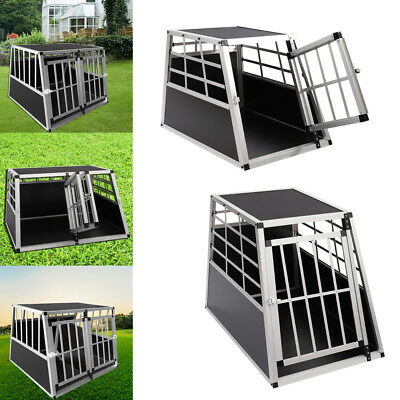 Aluminium Dog Cat Pet Puppy Cage Home Kennel Travel Transport Crate Carrier Box