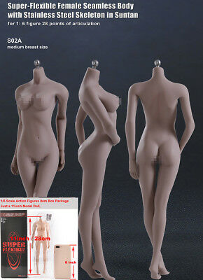 1//6 Doll Rude Body Small Busts Normal/&White Skin for 12/'/' Phicen Figure Head