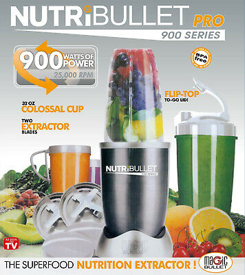 900W NutriBullet PRO 18 pieces Vegetable Blender Juicer Extractor Mixer AU Plug