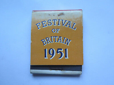 FESTIVAL of BRITAIN BOOK of MATCHES MATCH BOX 1951 MADE in ENGLAND