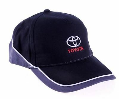 Genuine Toyota Branded Baseball Cap Hat - Black & Red (One Size Fits All)
