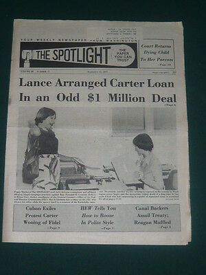 The Spotlight newspaper/Sept 12 1977/Nelson Rockefeller/Fernand St Germain