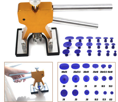 18 Tab Car Dent Repair Dint Hail Damage Remover Puller Lifter Tool Kit