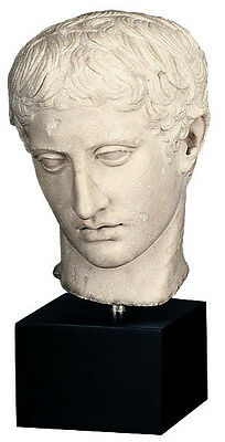 Marble Head of ancient Greek Youth Young Athlete Museum Replica Reproduction