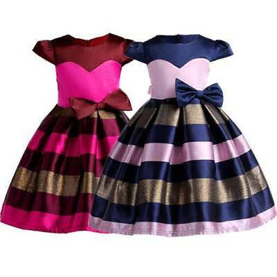 Girls Baby Toddler Kid's Clothes Sleeveless Flower Party Dresses Tutu Dress AUD