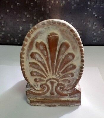 Greek Neoclassical Anthemion antefix terracotta ornament/Antique