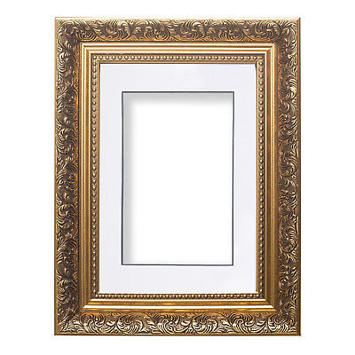 Ornate Swept Antique Style Picture Photo Frames With Layered Mount French  Style