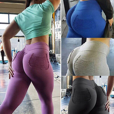 Women PUSH UP Yoga Leggings Pants  Fitness High Waist Sport Jogging Gym Trousers