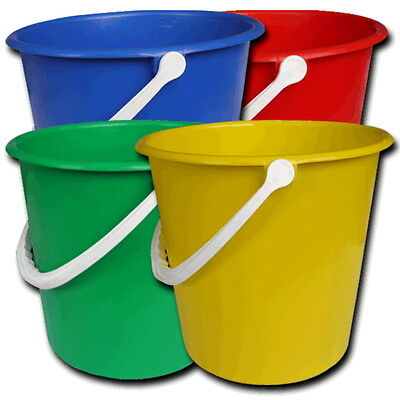 Strong Colour Coded Hygiene 9L Bucket & Handle Commercial Industrial Cleaning