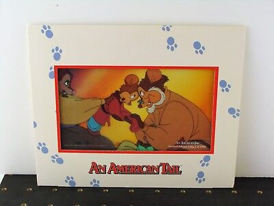 "Vintage Don Bluth ""An American Tail"" Promotional Limited Edition Sericel ca.1986"
