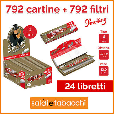 792 Cartine Smoking Oro Lunghe + 792 Filtri