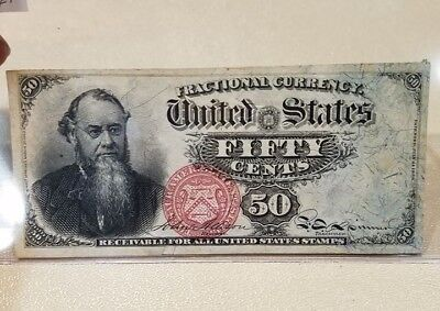 United States 4th Issue Damaged Fifty Cents Fractional FR-1376
