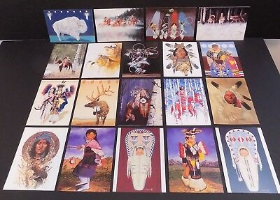 Native american indian greeting cards navajo vintage es curtis lot of 19 wintercount assorted native american indian greeting cards blank m4hsunfo