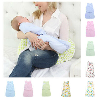 100% Cotton Soft Baby Infant Swaddle Wrap Blanket Autumn Sleeping Bag For 0-1T