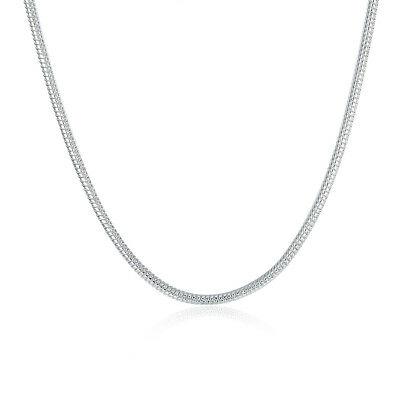 """Wholesale 925Sterling Solid Silver Jewelry Snake Chain Necklace 2MM 16""""-24"""" C010"""