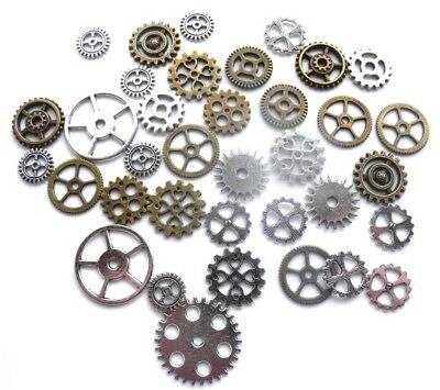 36 Mixed Steampunk Flatbacks/charms - Jewellery Scrapbooking Embellishment