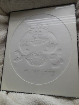 Paper art etching of an OWL by IAN KOCHBERG - Who, Me?  Limited Edition