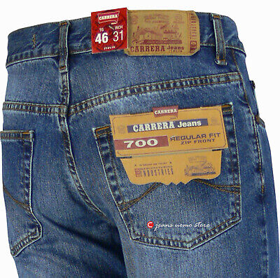 the latest 4e5b8 15ba0 NEW CARRERA JEANS Uomo 5 tasche pantalone denim regular Slavato effetto  Vintage