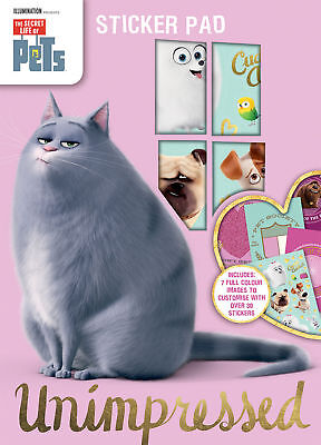 ‎illumination The Secret Life of Pets A4 Sticker Pad Kids Fun Activity Book