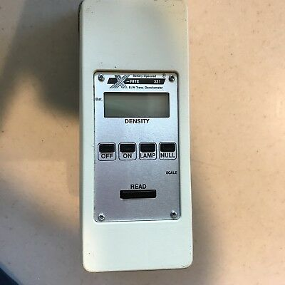 X-Rite 331 Battery Operated B/W Transmission Densitometer, Case, Manual