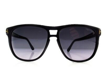 26fa8b7520 Tom Ford Tf288 01N Lennon Black Gradient Authentic Sunglasses Italy W case  55-13