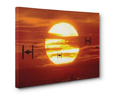 Star Wars Tie Fighters Canvas Wall Art Gallery Wrapped (Ready To Hang)