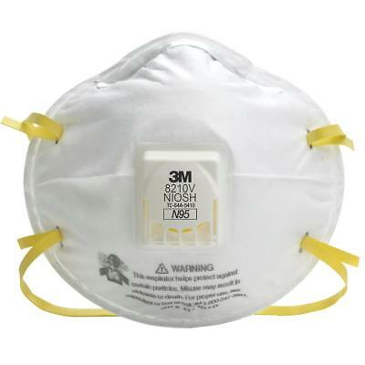 3M 8210V N95 Particulate Respirator Masks W/Exhalation Valve- Various Quantities