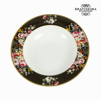 Plato Hondo Porcelana (Ø 23 cm) - Colección Kitchen's Deco by Bravissima Kitchen