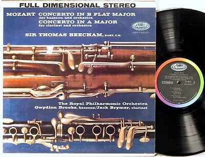 CAPITOL FULL DIMENSIONAL STEREO FDS Mozart BRYMER Clarinet Concerto SG-7201