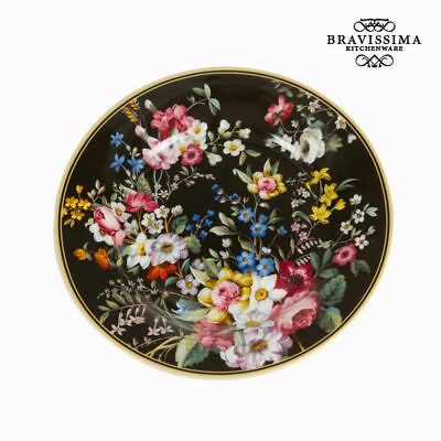 Plato Porcelana Negro (Ø 19 cm) - Colección Kitchen's Deco by Bravissima Kitchen