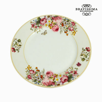 Plato llano bloom white - Colección Kitchen's Deco by Bravissima Kitchen