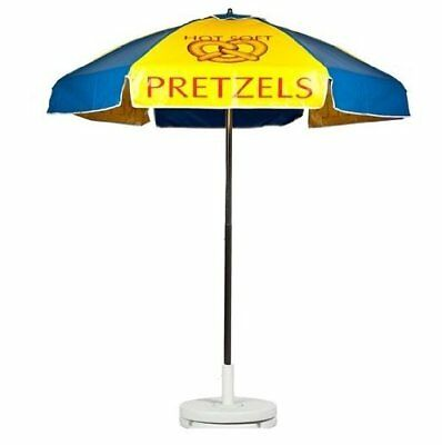 Hot Soft Pretzels Vendor Cart Concession Umbrella With Tilt