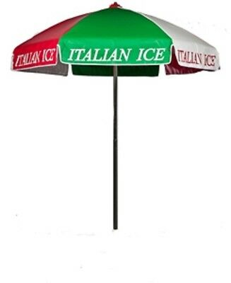 Italian Ice Vendor Cart Concession Umbrella With Tilt