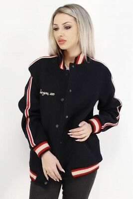 Zara BNWT Short Embroidered Jacket East Village Bomber Size S Free P/&P RRP£60
