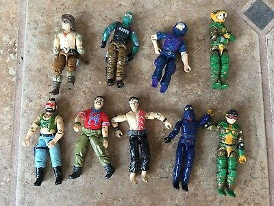 Lot Of 9 Vintage GI Joe Action Figures 4 Inch Hasbro Toys Military Adventure